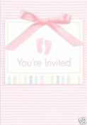 Baby Girl Soft Pink Baby Shower Invitation