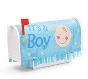 """It's A Boy"" Mailbox Cover Great Baby Birth Anouncement"