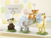 Kate Aspen 25072AS Born To Be Wild Animal Place Card-Photo Holders- Set of Four Assorted- Case of 24 sets