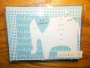 Mara Mi Blue Elephat Baby shower invitations - 10 with envelopes
