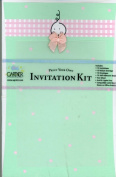 Gartner Studios Green Baby Print Your Own Invitation Kit with Pink Bow, 10 Ct