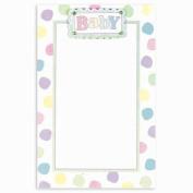 Pastel Baby Dot Imprintable Invitations 12ct