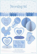 Baby Boy Baby Shower Decorating Kit - 10 Pc