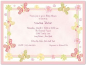 Butterflies Baby Shower Invitations - Set of 20