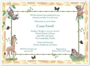 Jungle Animals Baby Shower Invitations - Set of 20