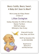 Oh My! with Purple Booties Baby Shower Invitations - Set of 20