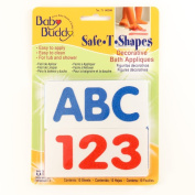 Baby Buddy BB Safe-T-Shapes Bath Tub Appliques, ABC123
