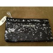 Victoria's Secret Black Sequin Limited Edition Clutch Wristlet Bag