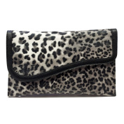 Leopard Envelope Clutch Handbag - GREY - With Free Silver Stone Bracelet From Styleinch