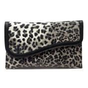 Leopard Envelope Clutch Handbag - GREY - With Free Silver Stone Bracelet From Styleinch