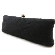 "Clutch bag ""Dentella"" black."