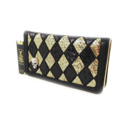 "Clutch bag ""Ed Hardy"" black gold."