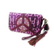 "Clutch bag ""Ed Hardy"" purple."