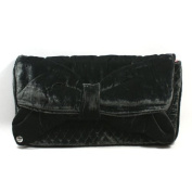 Juicy Couture Grey Bow Velvet Large Clutch (Grey) #YHRU2163