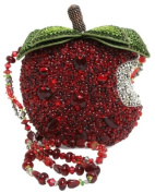 Mary Frances First Bite Apple Red Convertible Clutch Handbag