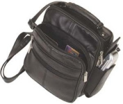 Leather Shoulder or Camera Bag Handbag Unisex Great for Travel Organizer Pockets