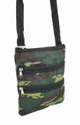 Army Camouflage Print Crossbody Travel Bag