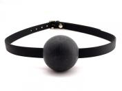 Heart 2 Heart Biothane Rubber Ball Gag - Black