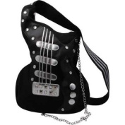 HANDBAG GUITAR CROSSBODY BLACK CANVAS