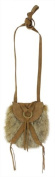 Lucky Brand Taluca Lake Mini Faux Fur Crossbody Handbag Rust