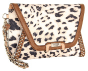 Guess Caytie Small Envelope Crossbody Clutch Bag, Cognac