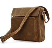 """Porto"" Men's Rugged Full Grain Leather Compact Gear Bag"