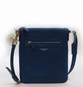Coach Legacy Leather Swingpack Crossbody Handbag Purse Cobalt