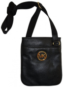 Women's Michael Kors Fulton Leather Crossbody Black