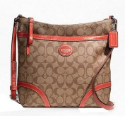 Coach Pey File Khaki Persimmon Crossbody Bag F18926