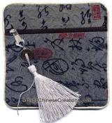 Chinese Apparel / Chinese Clothing & Accessories - Chinese Silk Purse - Chinese Calligraphy Symbols