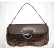 Imoshion Brown Fur Flap Clutch