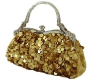 Eccentric Gold Handbag With Dangles - Purse / Bag