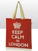 Keep Calm in London Shoulder Strap Bag Jute