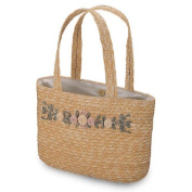 LADIES' SEWN BRAID WHEAT STRAW BAG