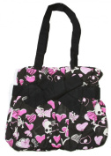 Skulls and Hearts Punk Small Hand Bag - Black