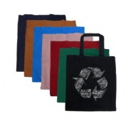 Small Red Recycle Tote Bag - Created using 86 recyclable items