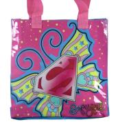 SuperGirl Tote Bag Handbag - 2.5x10x10 Tote Bag - Pink/Blue