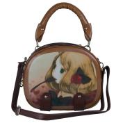 Ecosusi Cute Small Girl's Top Handle Handbags Baguette Satchel Shoulder Bag Chocolate
