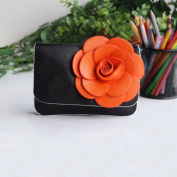 [Black Mystery] Flower Leatherette Clutch Shoulder Bag Clutch Casual Purse