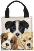 Fiddler's Elbow Peeping Puppies Canvas Totes