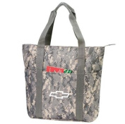 Large Digital Camouflage Zipper Tote