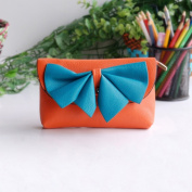 [Orange Wine] Colorful Leatherette Clutch Shoulder Bag Clutch Casual Purse