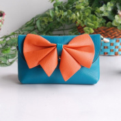 [Light Sky] Colorful Leatherette Clutch Shoulder Bag Clutch Casual Purse
