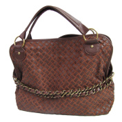 Imixcity Women's Coffee Woven Hobo Bag with Removable Strap