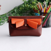 [Elegance Coffee] Colorful Leatherette Clutch Shoulder Bag Clutch Casual Purse