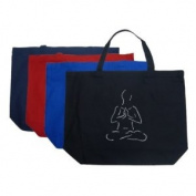 Large Red Yoga Tote Bag - Created using popular Yoga poses