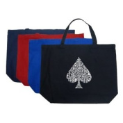 Large Black Spade Tote Bag - Created out of Order of Winning Poker Hands