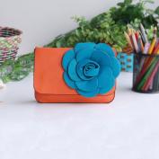 [Fashion Floral] Flower Leatherette Clutch Shoulder Bag Clutch Casual Purse