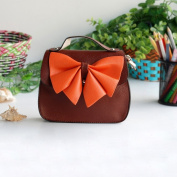 [Versatile Coffee] Colorful Leatherette Clutch Shoulder Bag Clutch Casual Purse