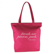 Kathy Ireland Inspirations Tote with quote, Pink